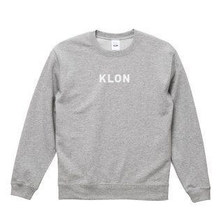 KLON SWEAT LOGOTYPE GRAY(LOGO WHITE)