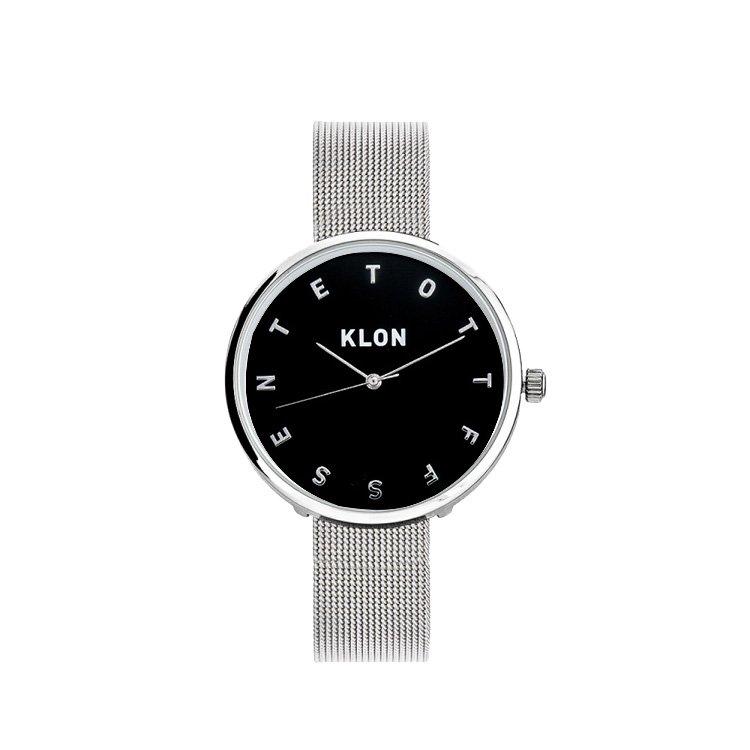 KLON ALPHABET TIME -SILVER MESH- 【BLACK SURFACE】 Ver.SILVER 33mm