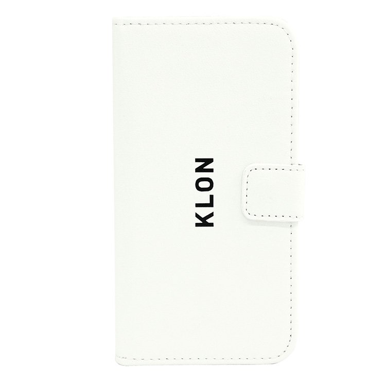 【iPhone X,Xs 対応】KLON iPhone X FLIP CASE (LOGO SMALL)  WHITE