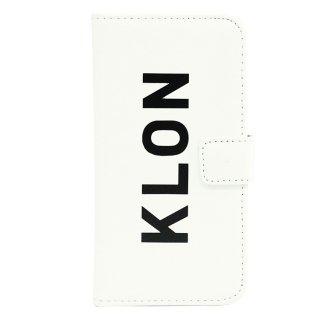 【iPhone X,Xs 対応】KLON iPhone X FLIP CASE (LOGO LARGE)  WHITE