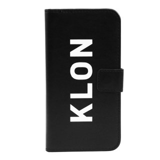 【iPhone X,Xs 対応】KLON iPhone X FLIP CASE (LOGO LARGE)  BLACK