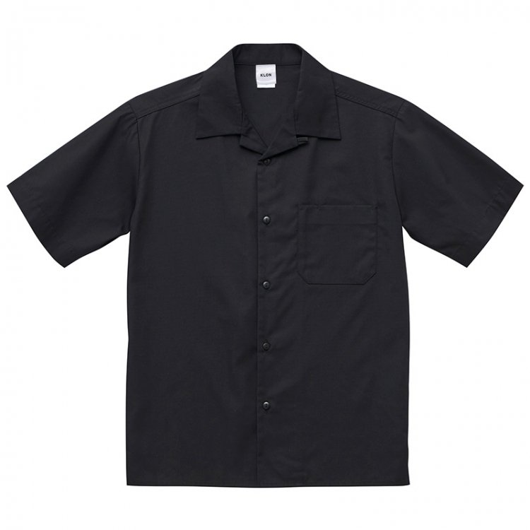 KLON OPEN COLLAR SHIRTS BLACK(BACK LOGO)
