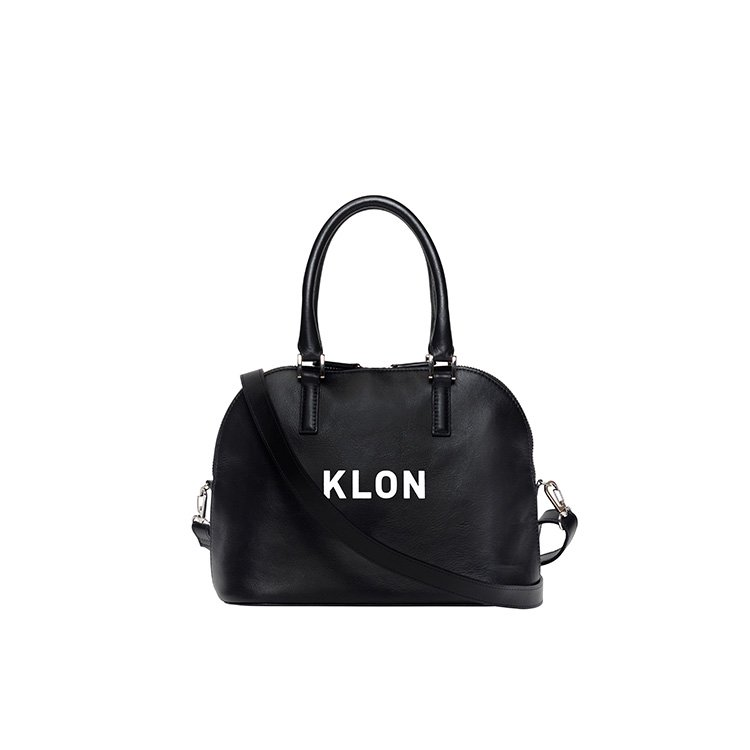 KLON ACTIVE LEATHER BAG ROUND TYPE BLACK