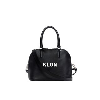 KLON ACTIVE LEATHER BAG ROUND TYPE BLACK