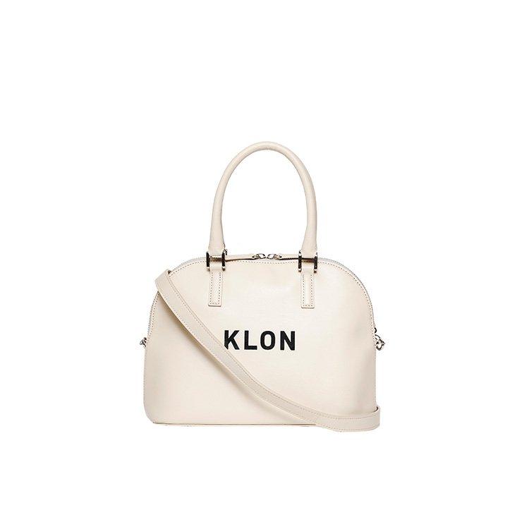 KLON ACTIVE LEATHER BAG ROUND TYPE WHITE