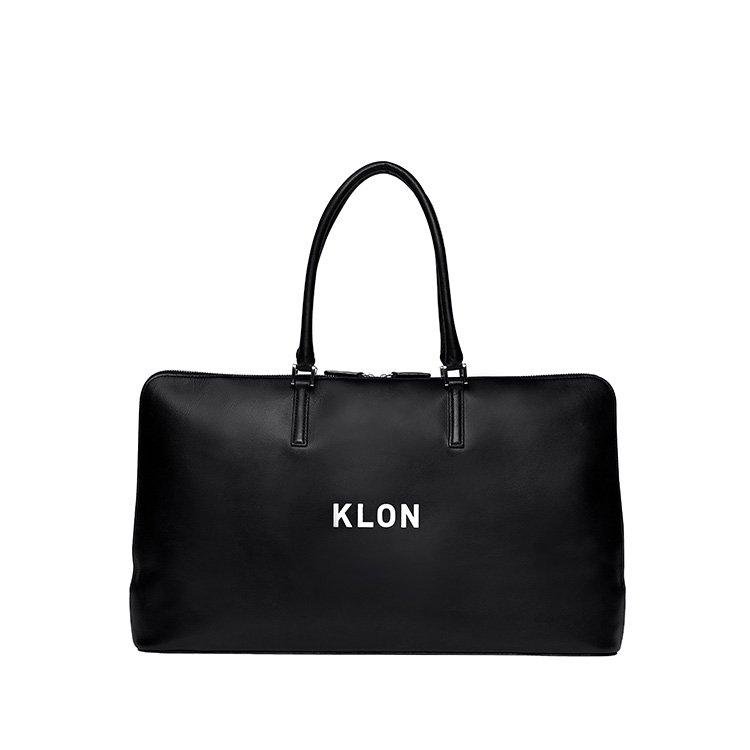 KLON ACTIVE LEATHER BAG BRIEFCASE TYPE BLACK