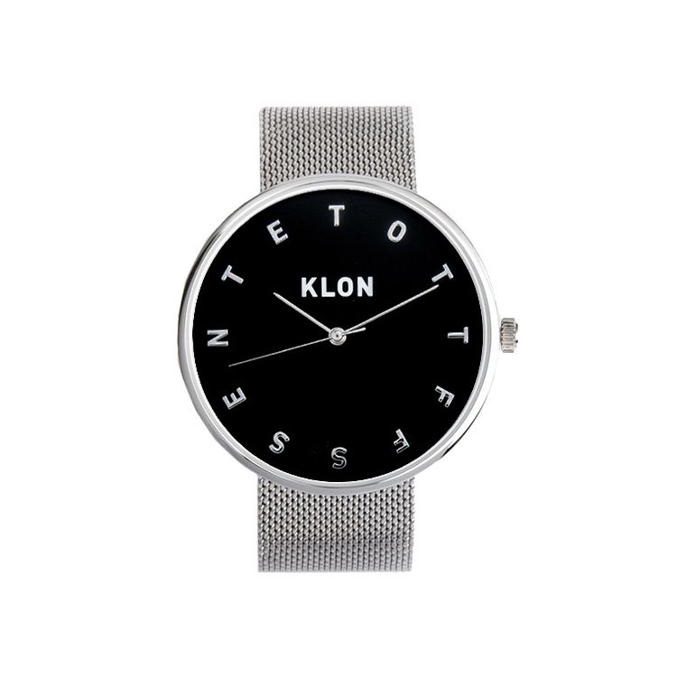 KLON ALPHABET TIME -SILVER MESH- 【BLACK SURFACE】 Ver.SILVER 40mm