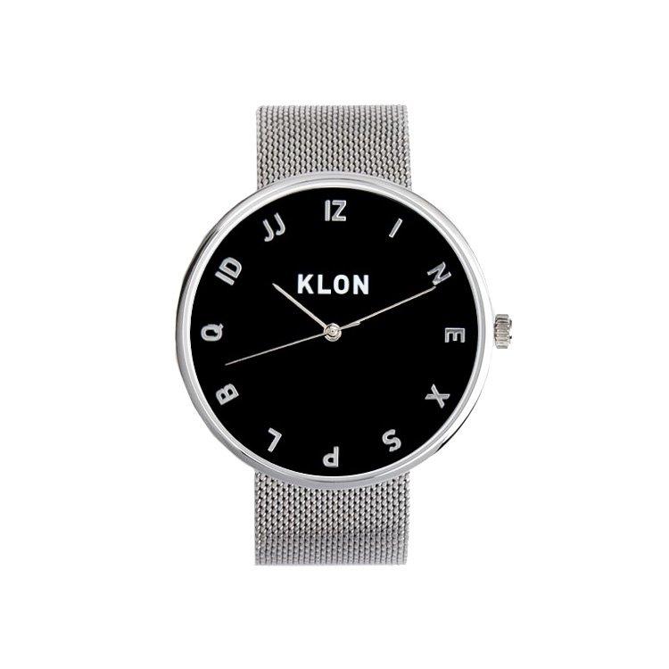 KLON MOCK NUMBER -SILVER MESH- 【BLACK SURFACE】 Ver.SILVER 40mm