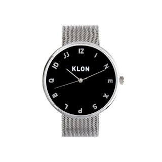 KLON MOCK NUMBER -SILVER MESH- 【BLACK SURFACE】 Ver.SILVER 40mm