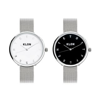 【組合せ商品】KLON ALPHABET TIME -SILVER MESH- Ver.SILVER PAIR WATCH 33mm
