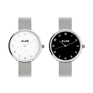 【組合せ商品】KLON MOCK NUMBER -SILVER MESH- Ver.SILVER PAIR WATCH 33mm