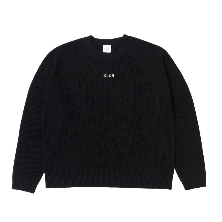 KLON KNIT RAGLAN LONG-SLEEVE LOGO BLACK