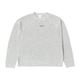 KLON KNIT RAGLAN LONG-SLEEVE LOGO MOTTLED GRAY