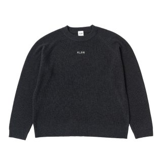 KLON KNIT RAGLAN LONG-SLEEVE LOGO CHARCOAL GRAY