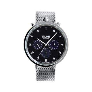 KLON HELIOS SILVER MESH -ALPHABET TIME- 43mm