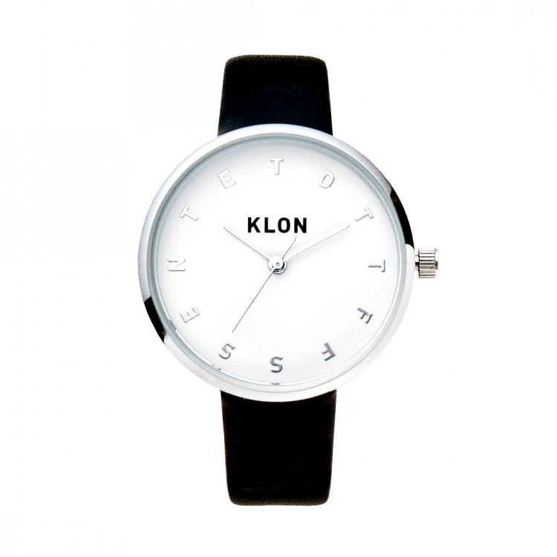 KLON ALPHABET TIME BLACK Ver.SILVER 33mm