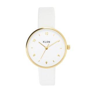 KLON PASS TIME ELFIN EVEN GOLD MODEL WHITE 33mm