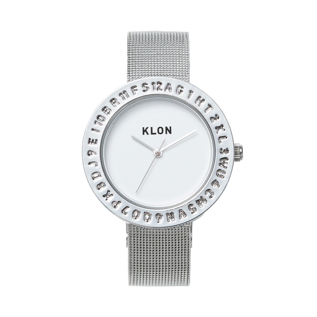 KLON ENGRAVE TIME -SILVER MESH- 33mm