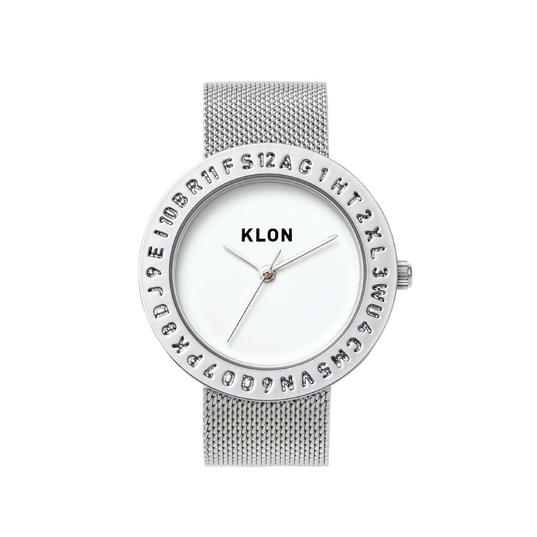 KLON ENGRAVE TIME -SILVER MESH- 40mm