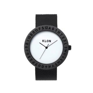 KLON ENGRAVE TIME -BLACK MESH- 40mm