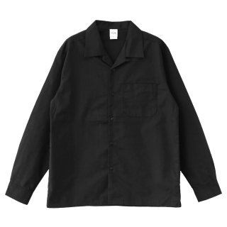 KLON WORX OPEN COLLAR SHIRTS BLACK