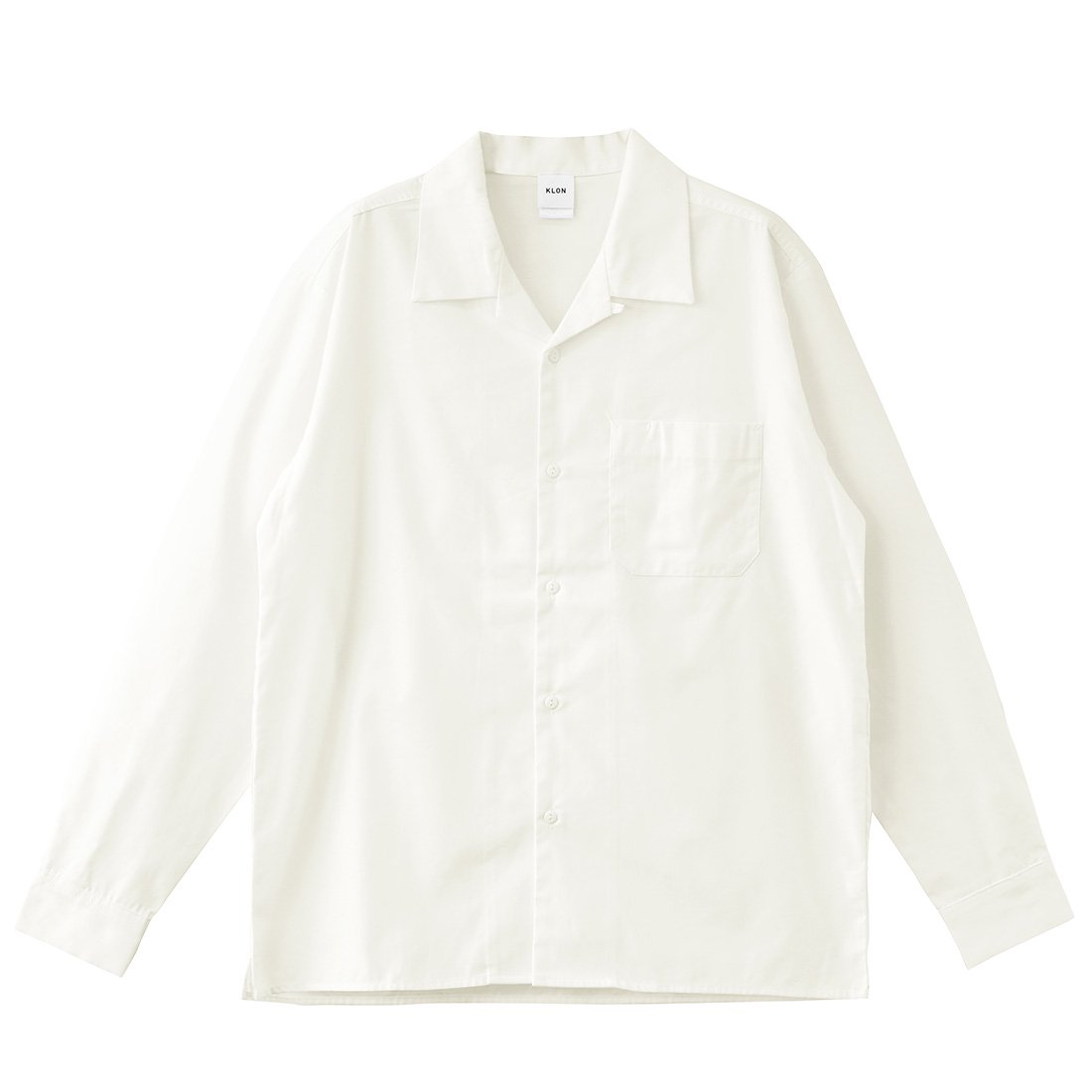 KLON WORX OPEN COLLAR SHIRTS WHITE