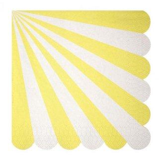 【meri meri】ペーパーナプキン イエロー Toot Sweet Yellow Large (45-1316)