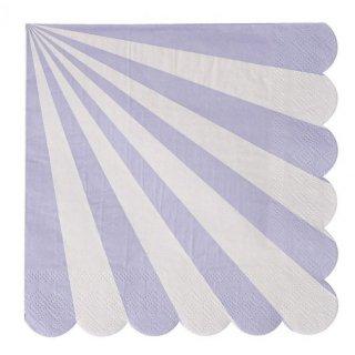 【meri meri】ペーパーナプキン ラベンダー Toot Sweet Lavender Large (45-2123)