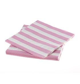 【SAMBELLINA】 ペーパーナプキン ピンク ストライプ  20枚入