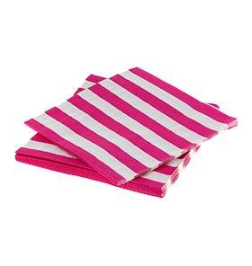 【SAMBELLINA】 ペーパーナプキン ラズベリーピンク ストライプ  20枚入 ◆通常価格700円