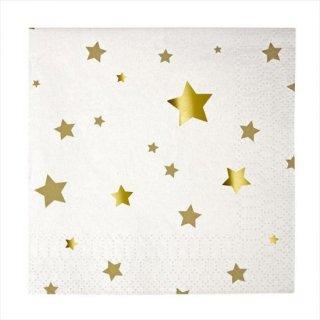 【Meri Meri】ゴールドスター ペーパーナプキン 16枚 (45-1257)