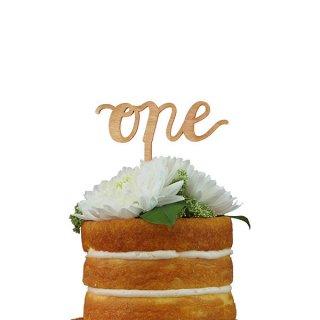 ケーキトッパー ONE スクリプト 木製