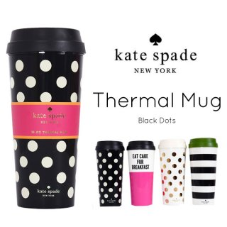 <img class='new_mark_img1' src='//img.shop-pro.jp/img/new/icons1.gif' style='border:none;display:inline;margin:0px;padding:0px;width:auto;' />【Kate Spade】タンブラー サーマルマグ black dot
