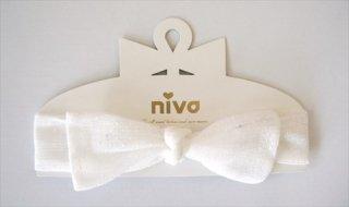 【niva】ヘアバンド☆Ribbon band(リボン バンド)/ドット チュール(135)