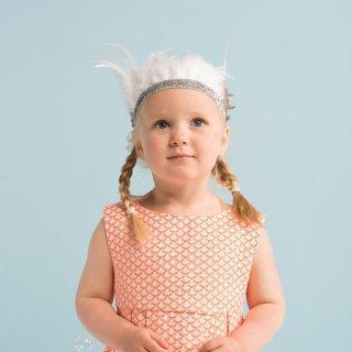 【Meri Meri】白い羽根でデザインされたフェザークラウン(45-2091)