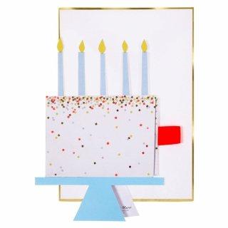 【MeriMeri】HAPPY BIRTHDAY ケーキ バースデイカー(16-0201H)