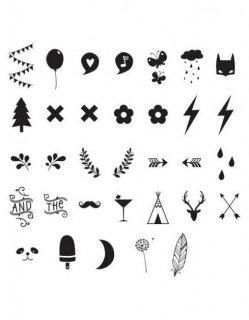【a little lovely company】 Numbers & Symbols ライトボックス用 文字・記号パーツ