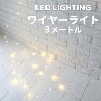 LED ワイヤーライト 5メートル【デコレーション イルミネーションライト パーティー 飾りつけ ジュエリーライト ジュエリーライト フェアリーライト】リトルレモネード