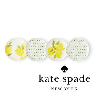 <img class='new_mark_img1' src='//img.shop-pro.jp/img/new/icons1.gif' style='border:none;display:inline;margin:0px;padding:0px;width:auto;' />【Kate Spade】Lemon Tidbit Plates プレート 15cm 4枚(176830)