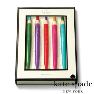 <img class='new_mark_img1' src='//img.shop-pro.jp/img/new/icons1.gif' style='border:none;display:inline;margin:0px;padding:0px;width:auto;' />【Kate Spade】Pen Set Assorted カラフルアソート ボールペンセット 5色セット(133530)