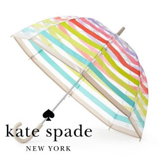 <img class='new_mark_img1' src='//img.shop-pro.jp/img/new/icons1.gif' style='border:none;display:inline;margin:0px;padding:0px;width:auto;' />【Kate Spade】マルチストライプ 透明傘 80cm(153660)