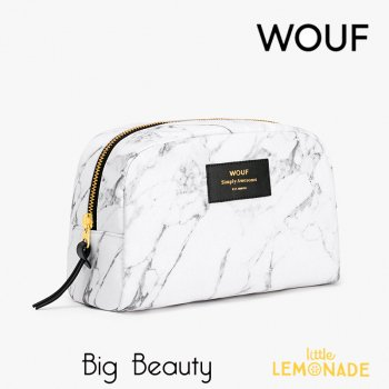 <img class='new_mark_img1' src='//img.shop-pro.jp/img/new/icons1.gif' style='border:none;display:inline;margin:0px;padding:0px;width:auto;' />【WOOUF!BARCELONA】化粧ポーチ【White Marble】 Big Beauty