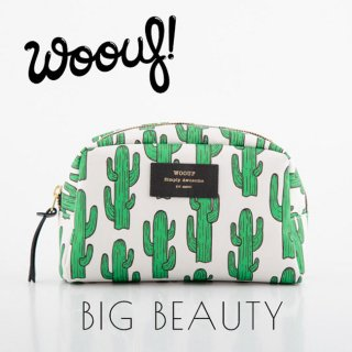 <img class='new_mark_img1' src='//img.shop-pro.jp/img/new/icons1.gif' style='border:none;display:inline;margin:0px;padding:0px;width:auto;' />【WOOUF!BARCELONA】化粧ポーチ【Cactus】 Big Beauty