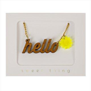 【Meri Meri】ネックレス 【HELLO・太陽】