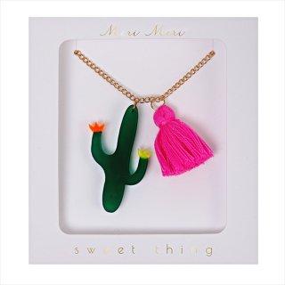 【Meri Meri】ネックレス 【Cactus・カクタス・サボテン・タッセル付】
