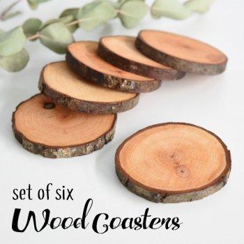 ウッドコースター 6枚セット/ ALDER 木製 コースター