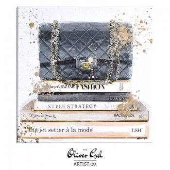 【Oliver Gal Art】 Jetsetter a la Mode / CHANEL Black Hand Bag  (15814)
