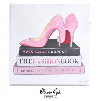 【Oliver Gal Art】 The Vocabulary of Style / Pink heel and books (17908)