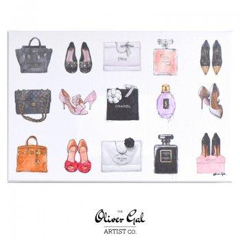 【Oliver Gal Art】 Fashion Chart  (14519)