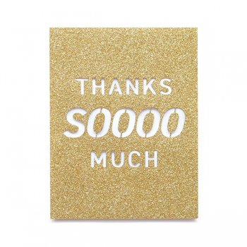 ◆FINAL SALE!◆【Alexis Mattox Design】サンクスカード   Thanks soooo Much  Glitter Card
